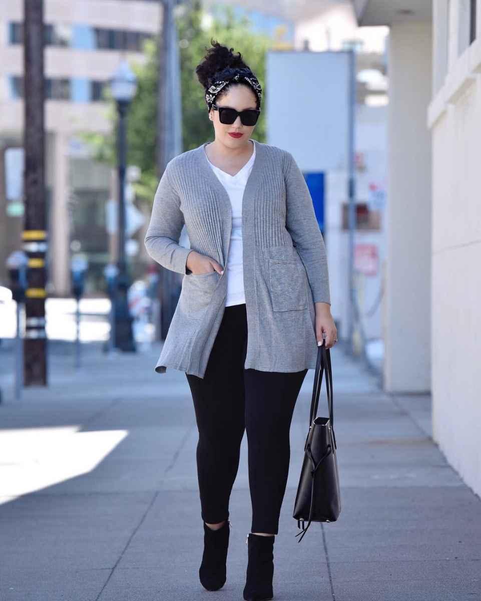 Модная верхняя одежда для полных женщин осень-зима 2019-2020 фото_26
