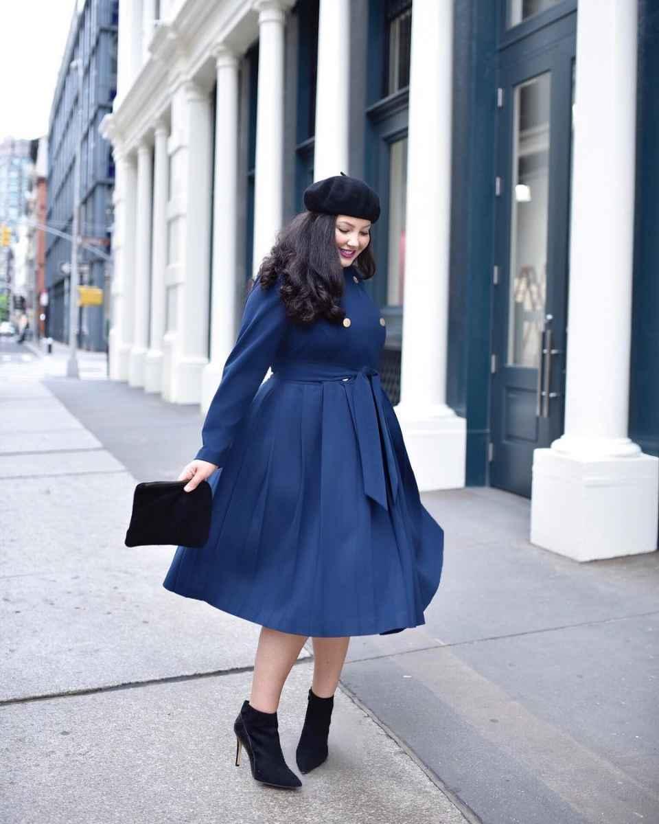 Модная верхняя одежда для полных женщин осень-зима 2019-2020 фото_25