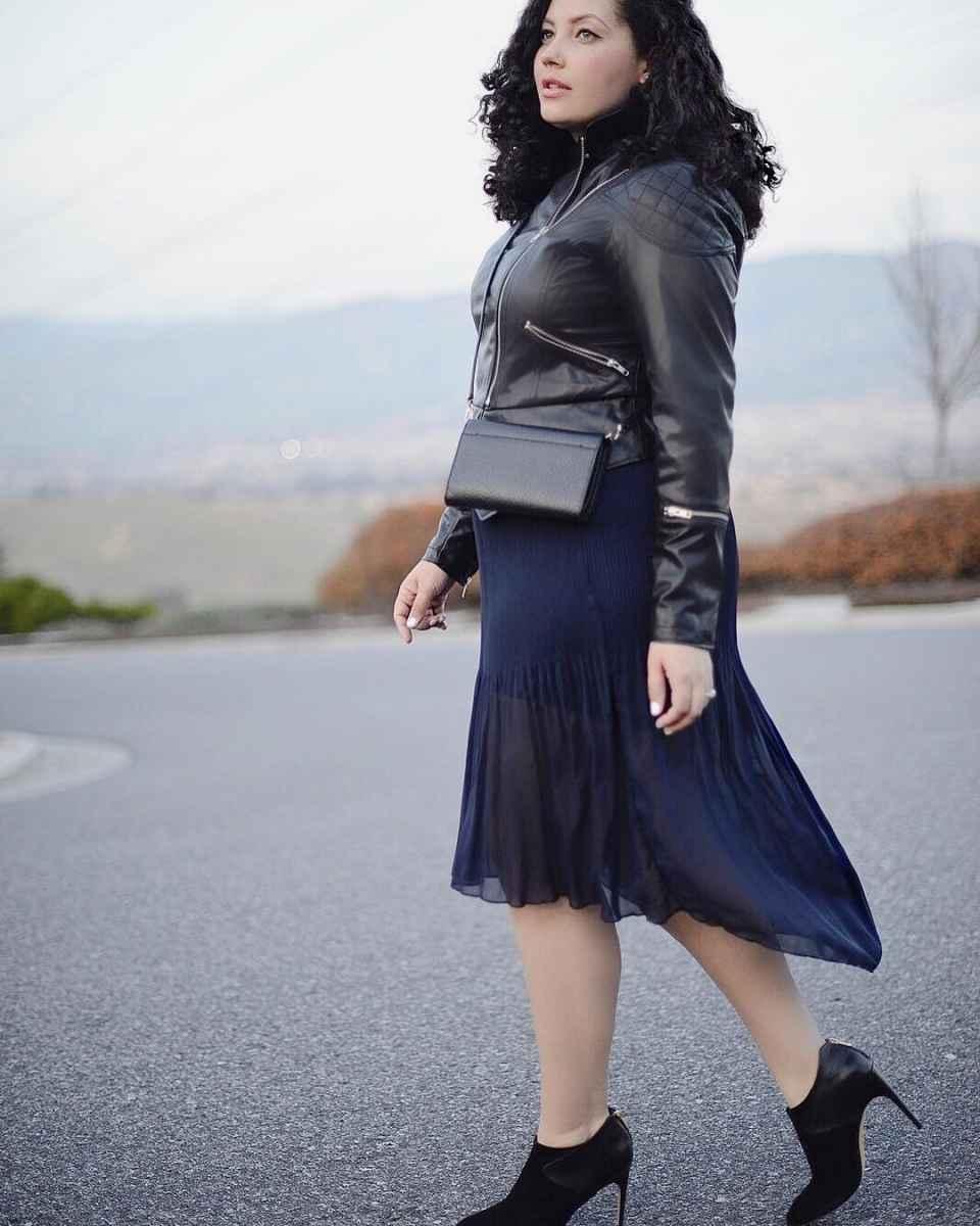 Модная верхняя одежда для полных женщин осень-зима 2019-2020 фото_24