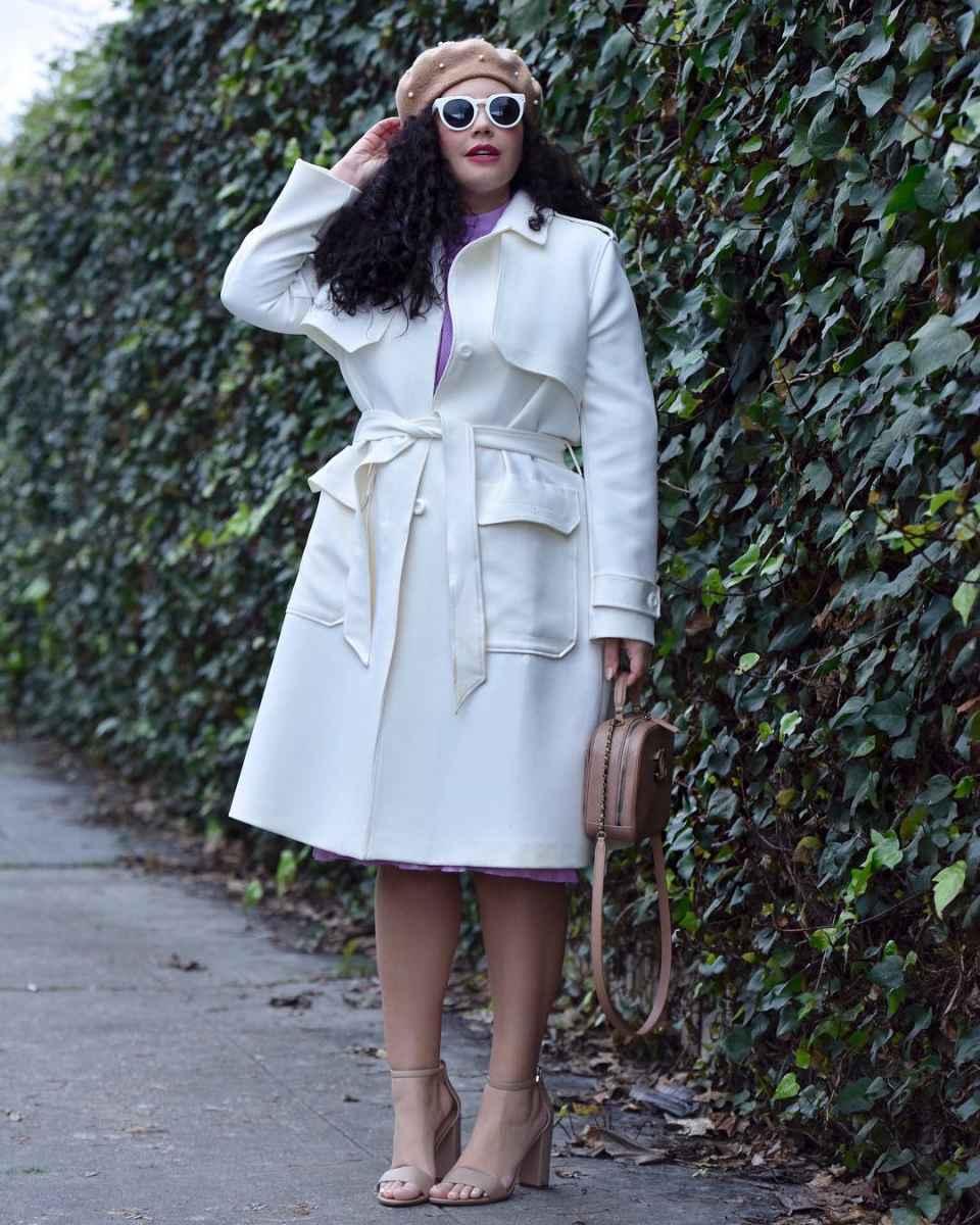 Модная верхняя одежда для полных женщин осень-зима 2019-2020 фото_22