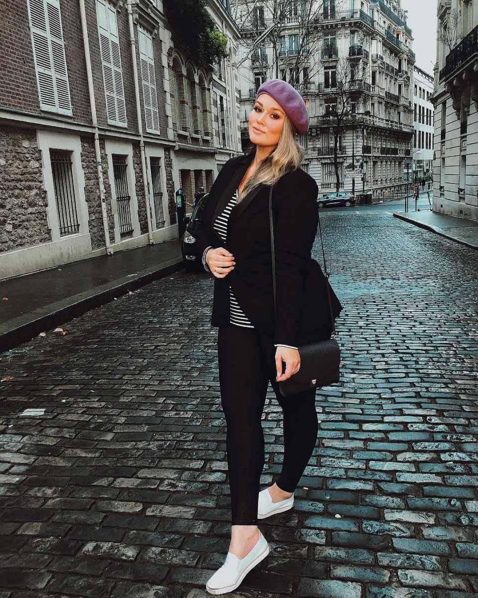 Модная верхняя одежда для полных женщин осень-зима 2019-2020 фото_45