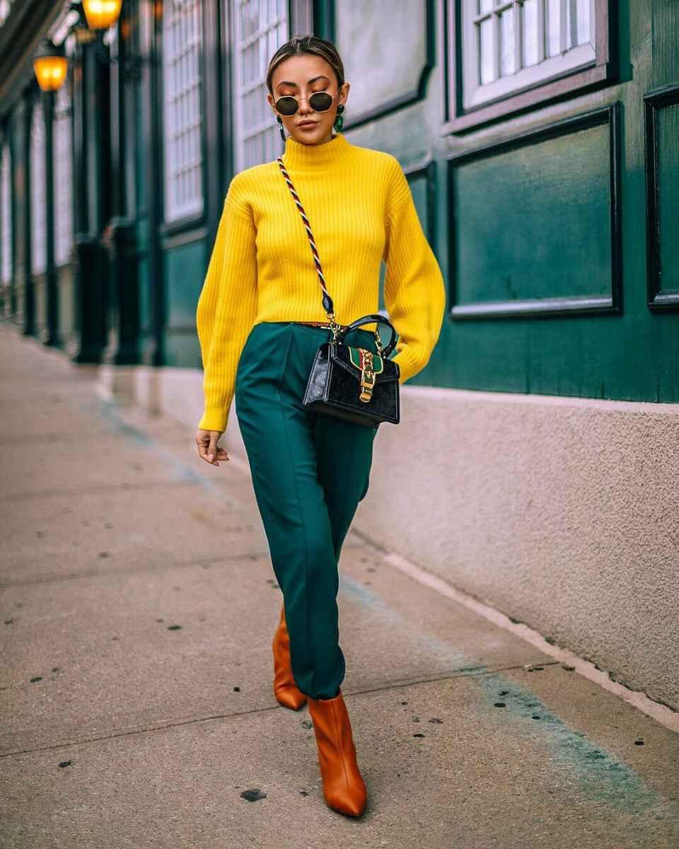 Модные женские луки осень-зима 2019-2020 фото_24