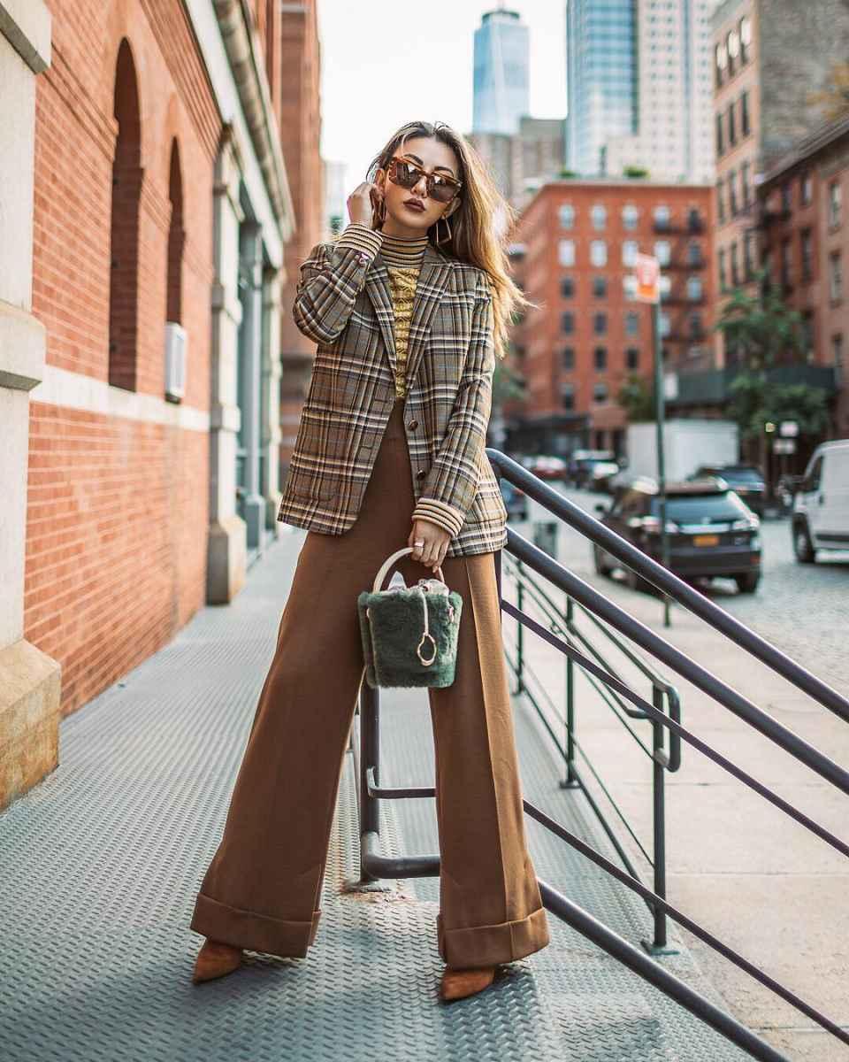 Модные женские луки осень-зима 2019-2020 фото_33