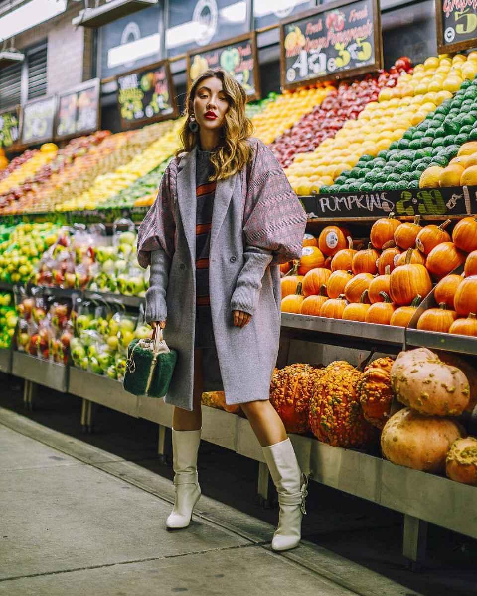 Модные женские луки осень-зима 2019-2020 фото_31