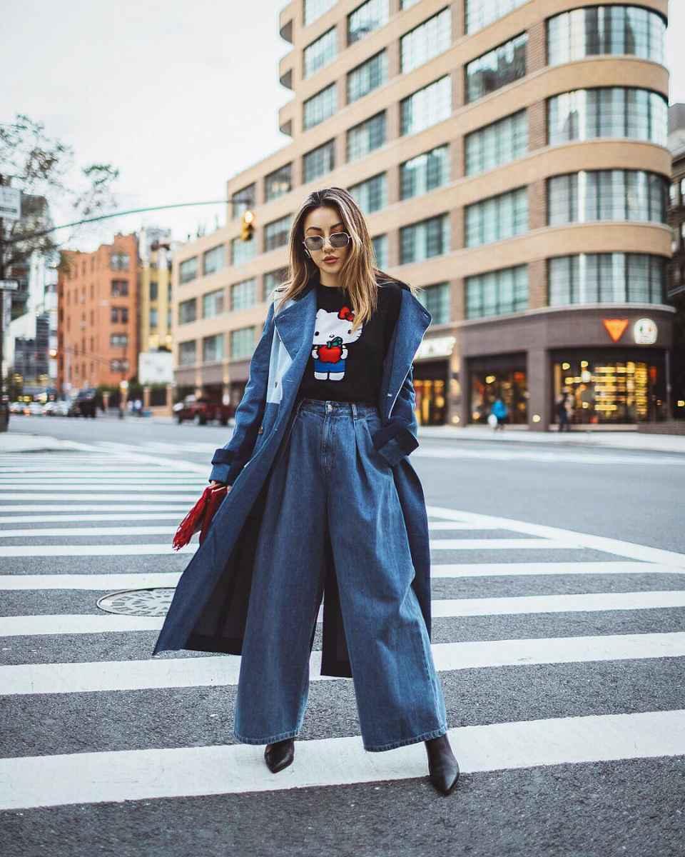 Модные женские луки осень-зима 2019-2020 фото_30
