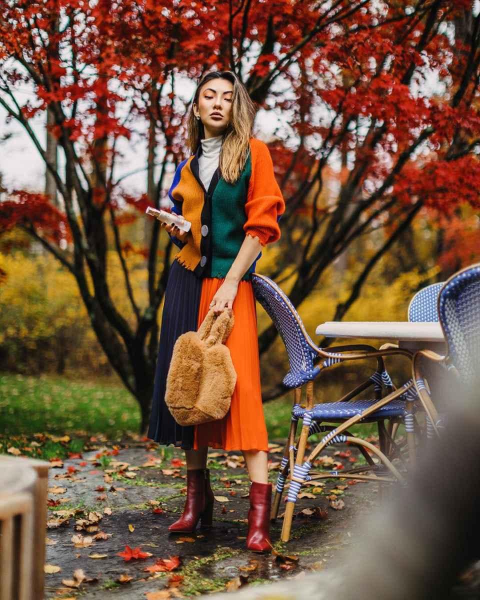 Модные женские луки осень-зима 2019-2020 фото_26