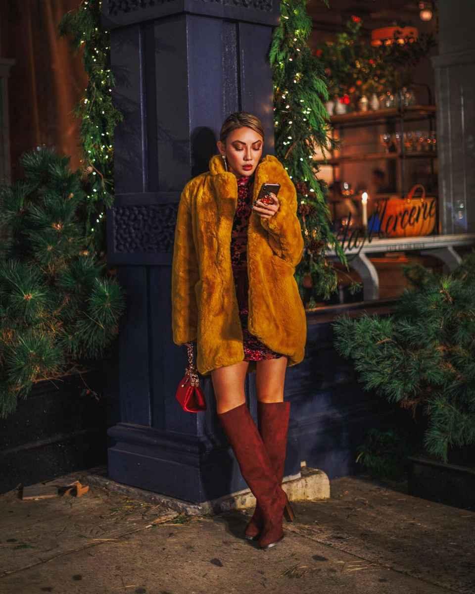 Модные женские луки осень-зима 2019-2020 фото_25