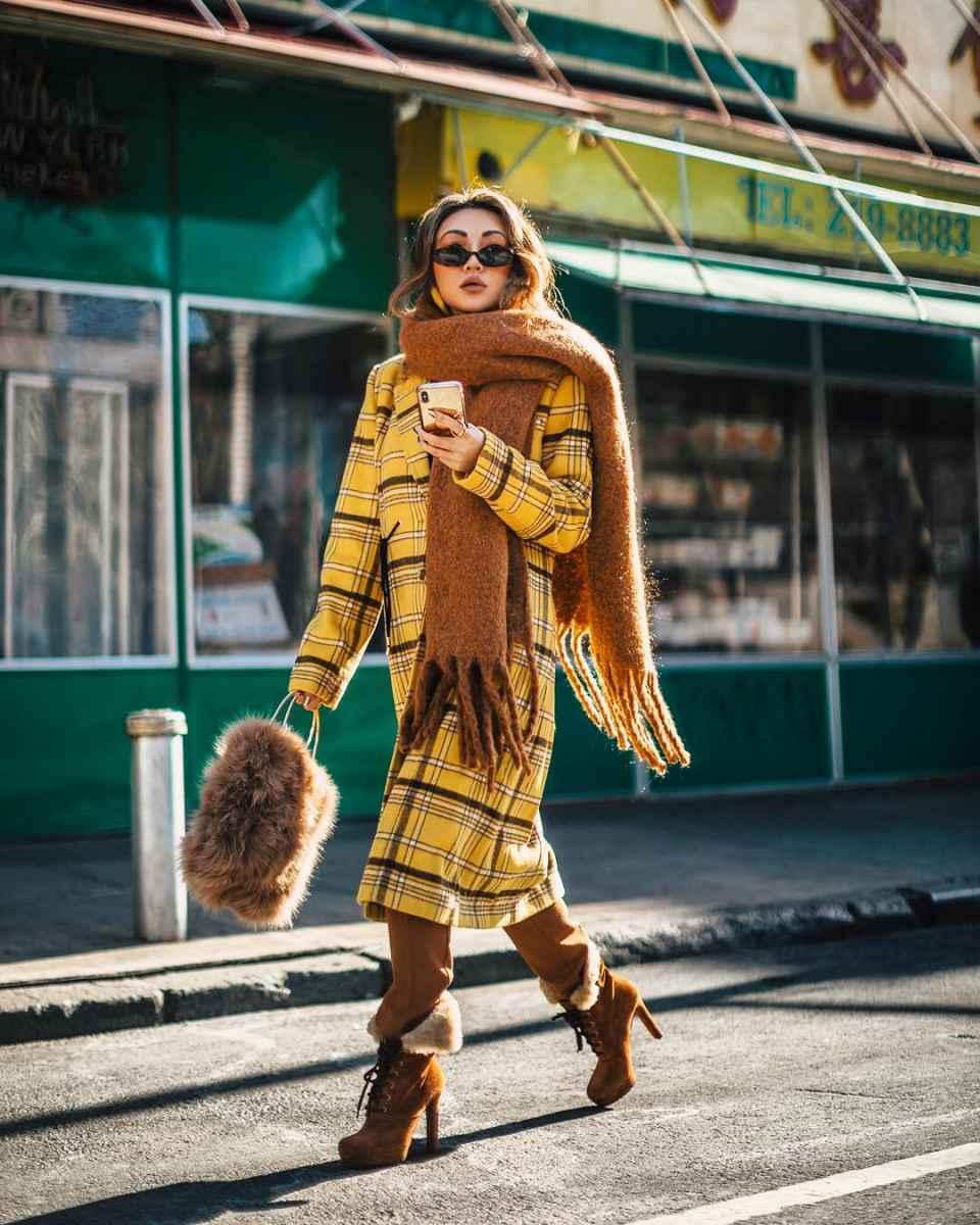 Модные женские луки осень-зима 2019-2020 фото_23