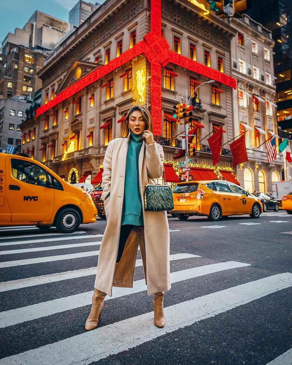 Модные женские луки осень-зима 2019-2020 фото_21
