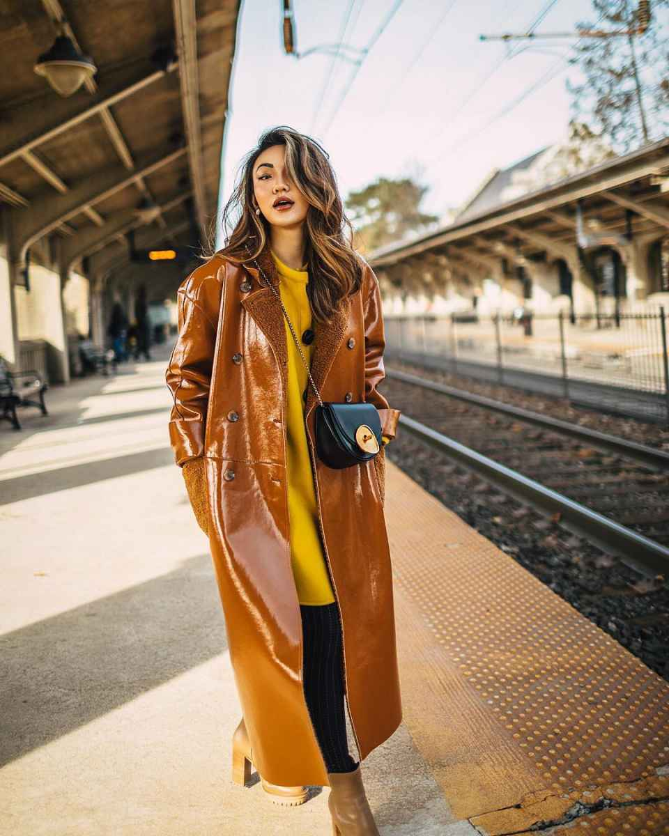 Модные женские луки осень-зима 2019-2020 фото_19