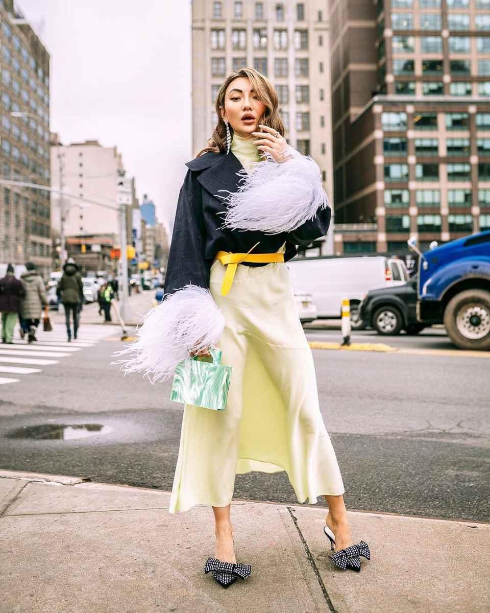 Модные женские луки осень-зима 2019-2020 фото_17