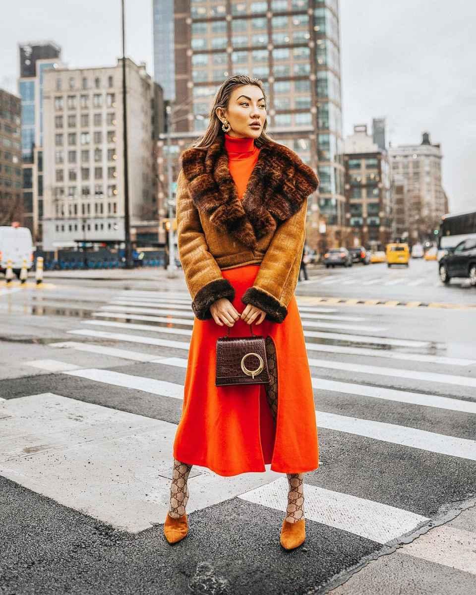 Модные женские луки осень-зима 2019-2020 фото_16