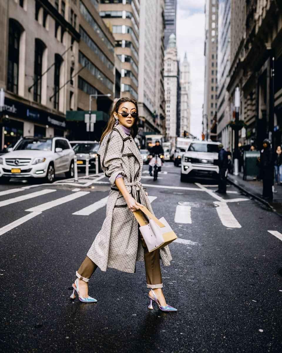 Модные женские луки осень-зима 2019-2020 фото_14