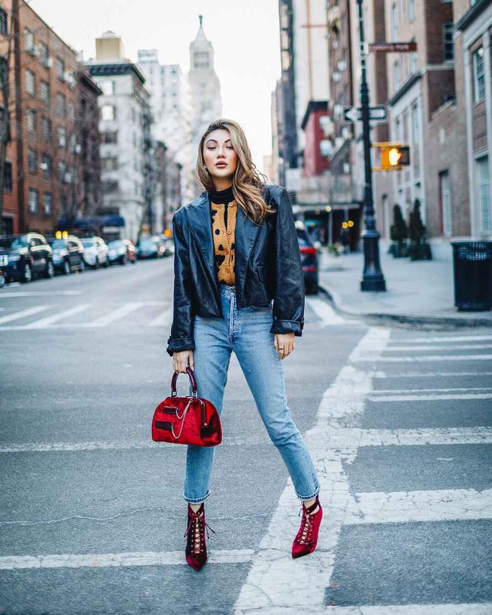 Модные женские луки осень-зима 2019-2020 фото_12