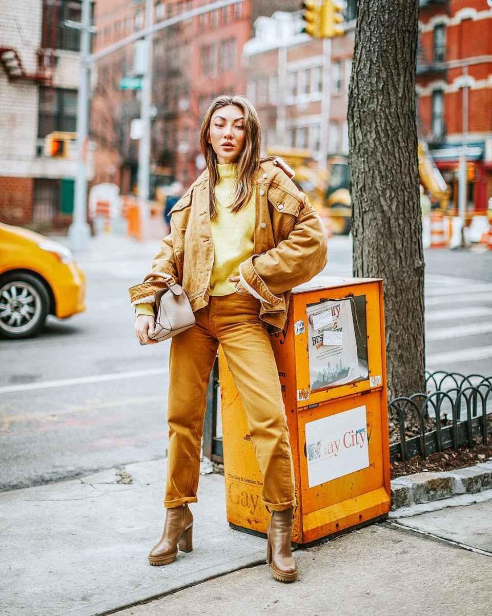 Модные женские луки осень-зима 2019-2020 фото_8