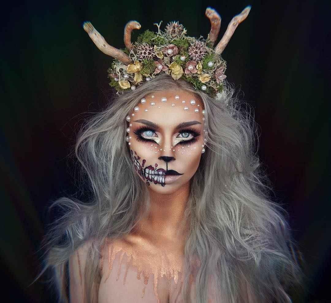 Макияж на Хэллоуин 2019-2020 фото_48