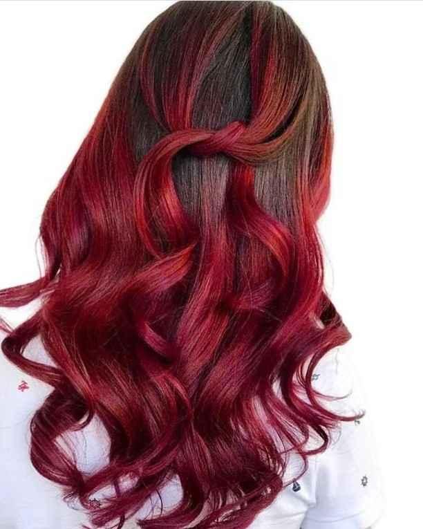 Красное омбре на волосах фото_3