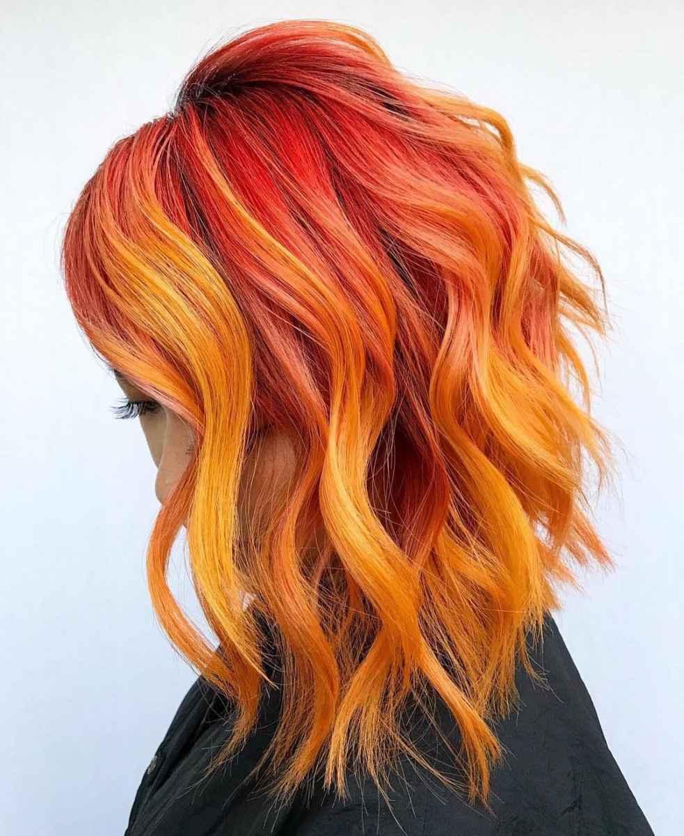 Красное омбре на волосах фото_4