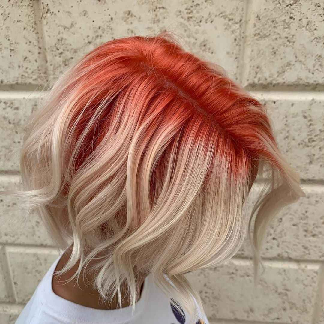 Красное омбре на волосах фото_7