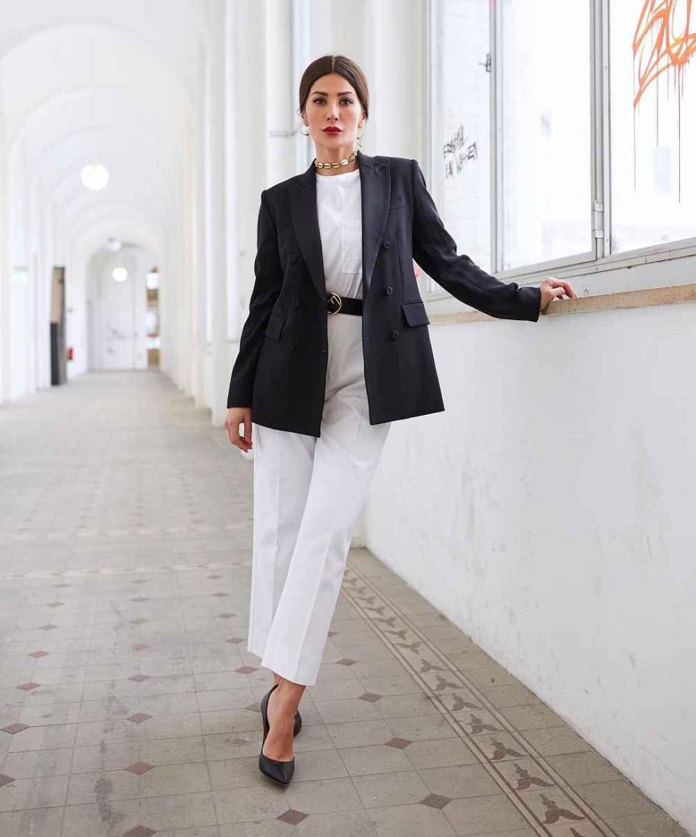 Модные луки для собеседования на работу женщине фото_43