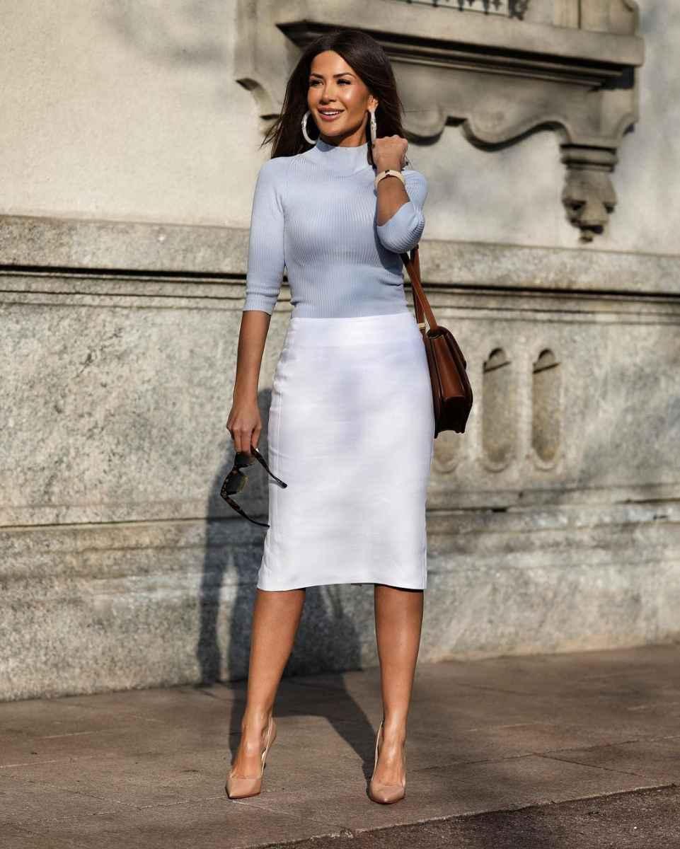 Модные луки для собеседования на работу женщине фото_30