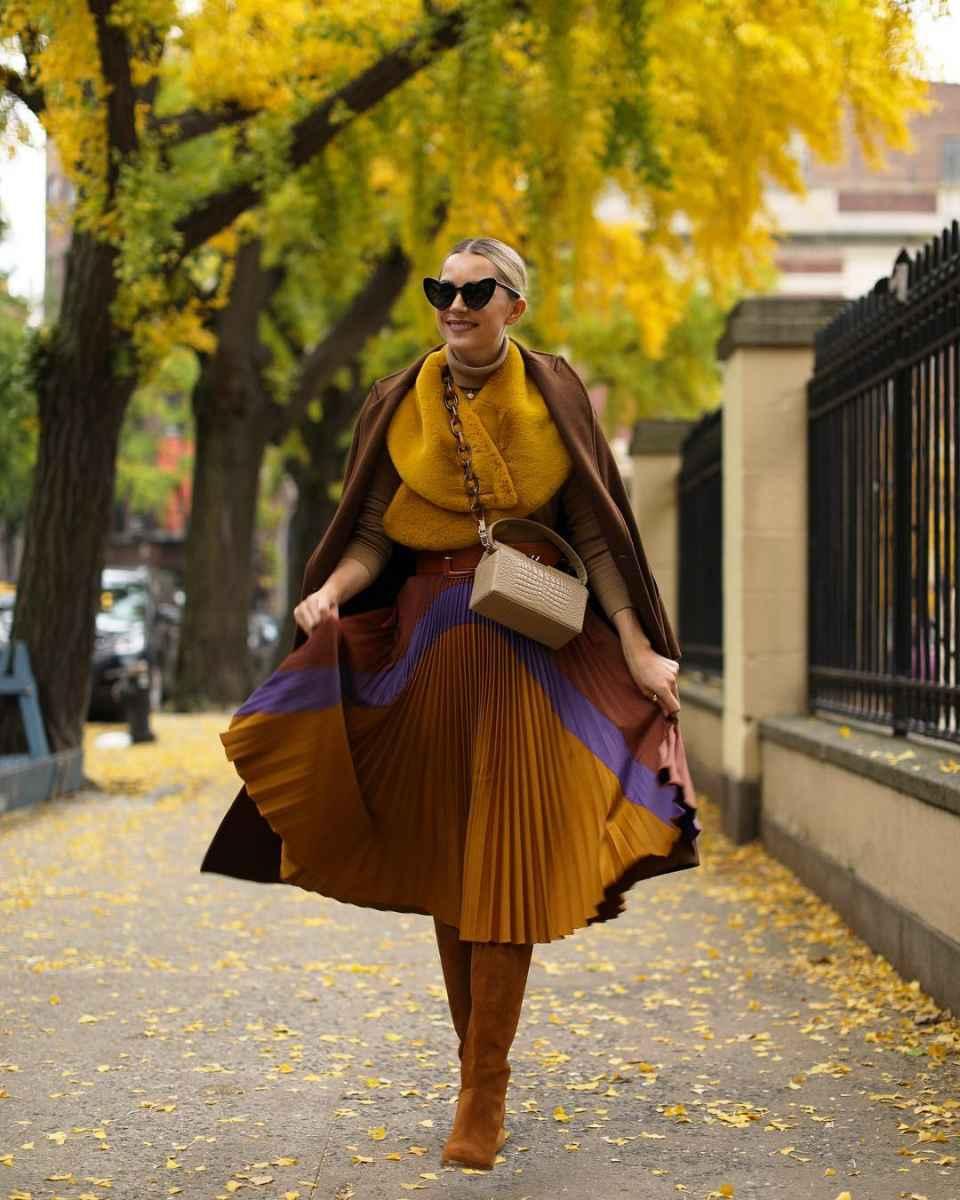 С чем носить коричневое пальто фото идеи_7