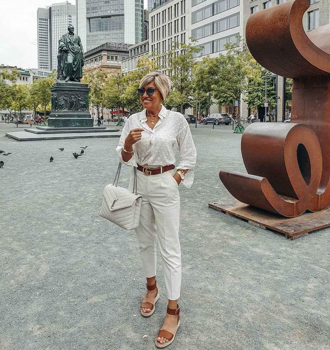 Луки для деловой женщины 40 лет фото_5