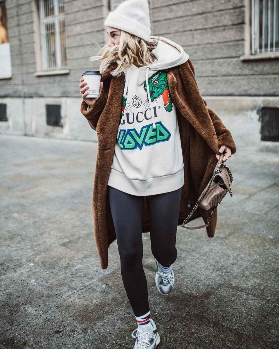 С чем носить зимние женские кроссовки фото идеи_4