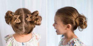 Легкие прически для девочки фото