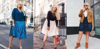 Модные юбки для полных женщин осень 2020 фото идеи