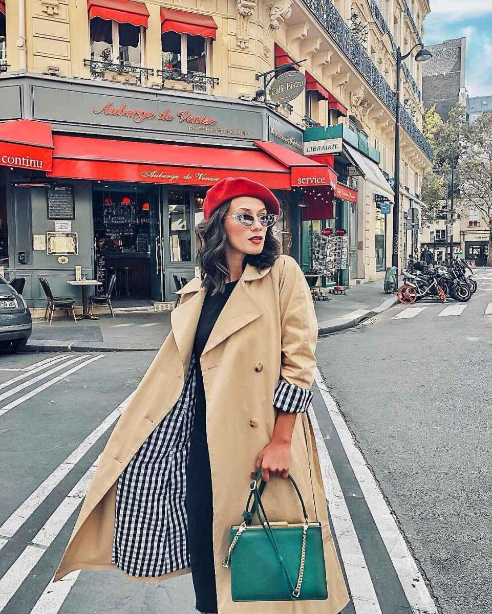 С чем носить коричневое пальто фото идеи_20