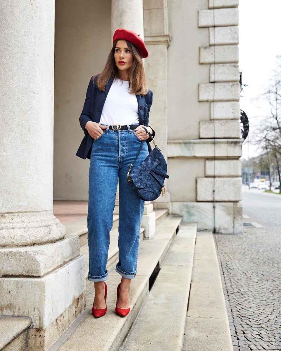 С чем носить джинсы женщинам после 40 фото_25