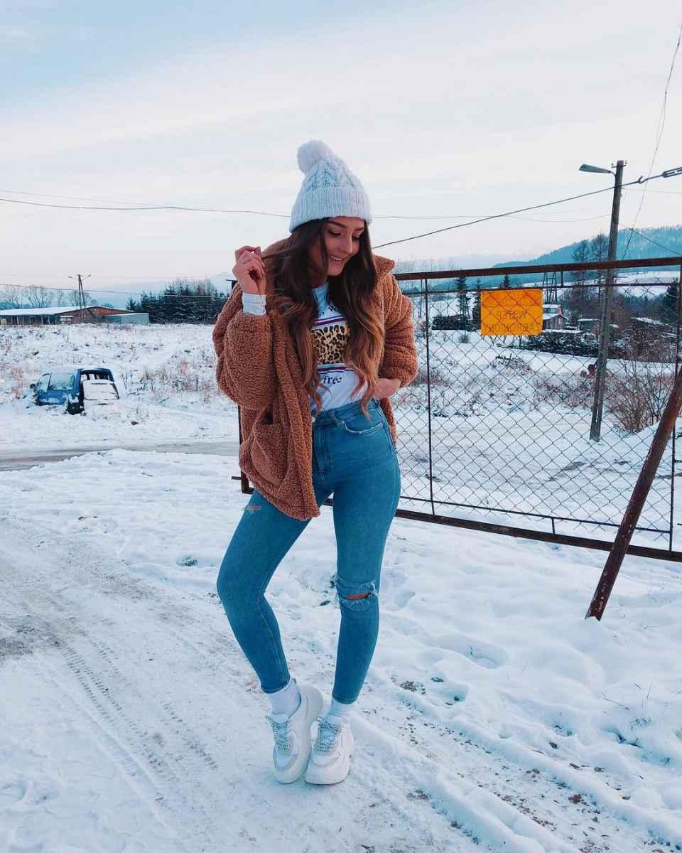 Модные образы в школу для подростка фото_101