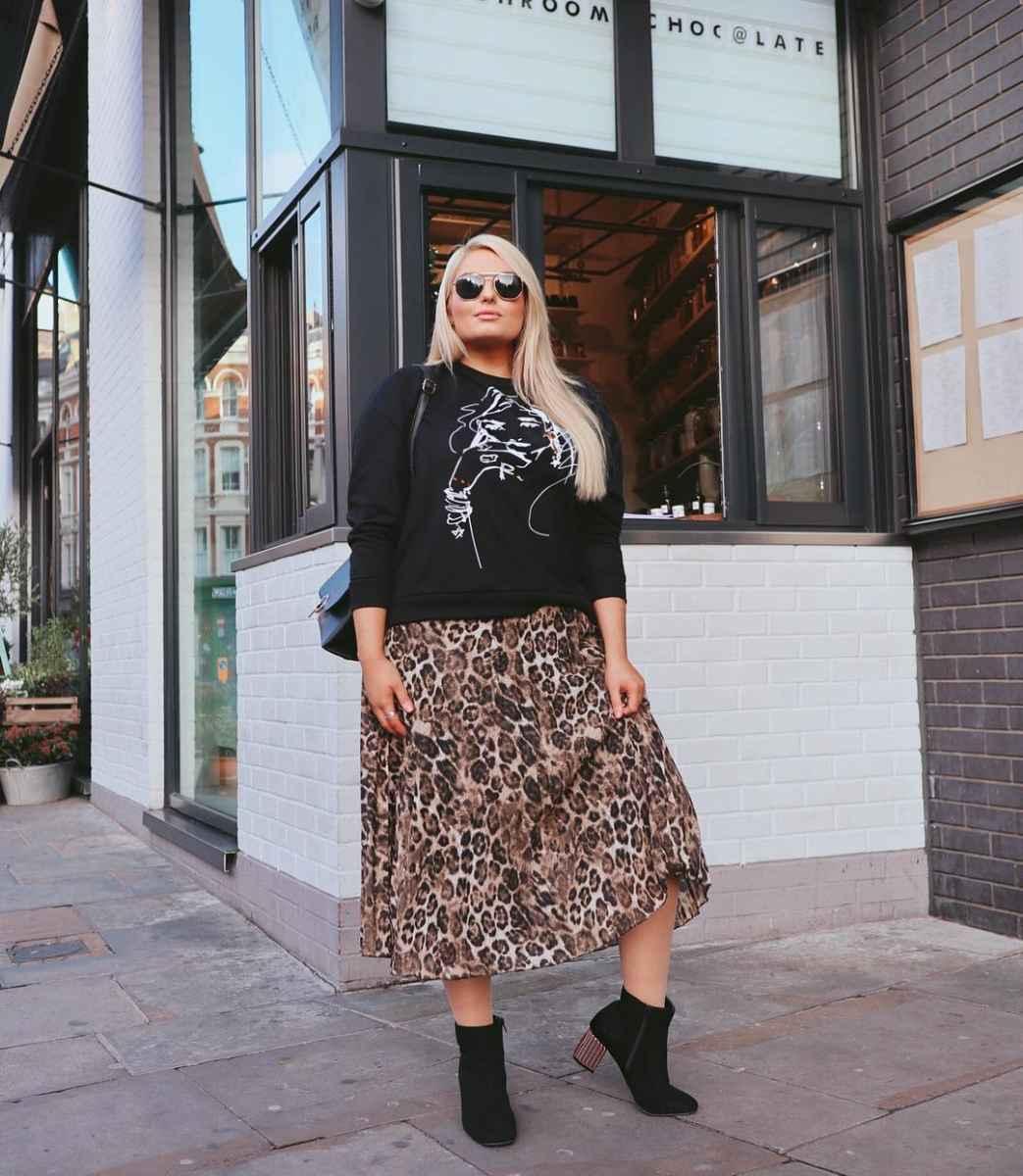 Модные юбки для полных женщин осень 2019 фото_5