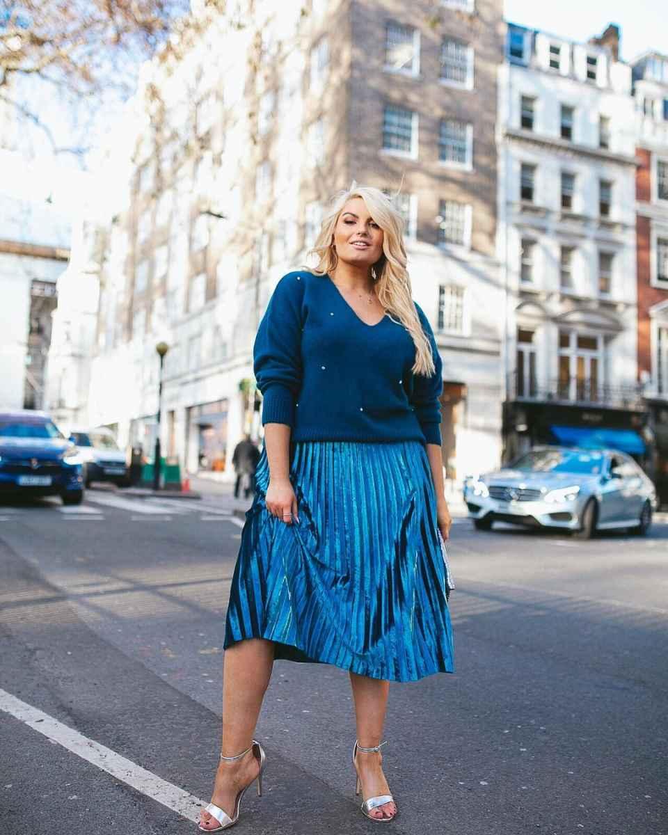 Модные юбки для полных женщин осень 2019 фото_4