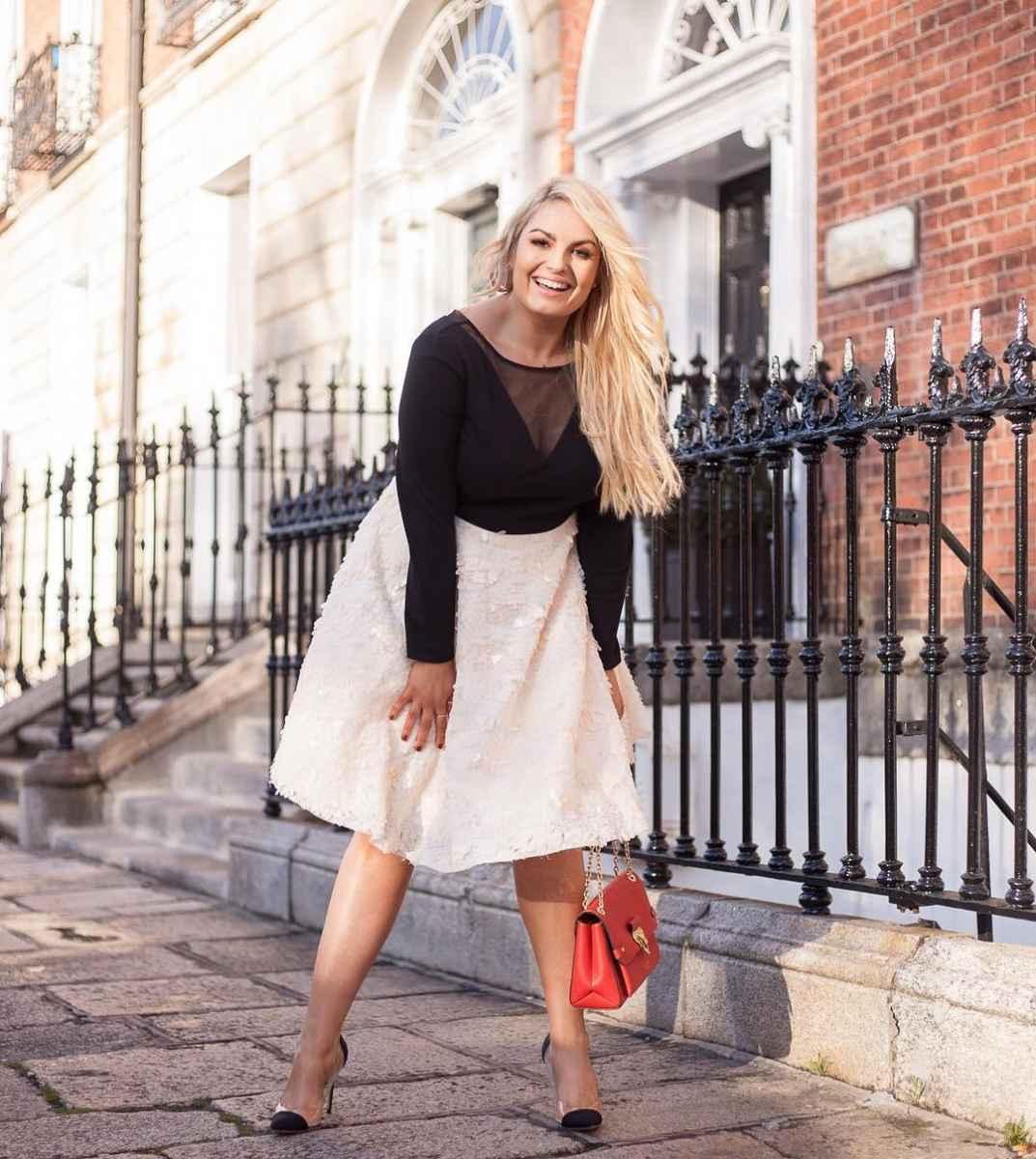 Модные юбки для полных женщин осень 2019 фото_3