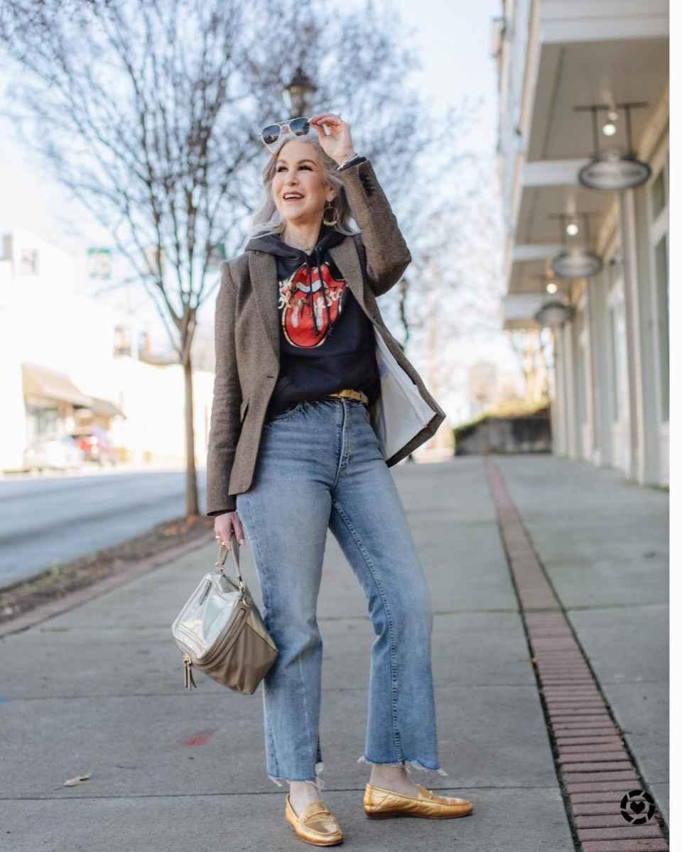 С чем носить джинсы женщинам после 40 фото_3