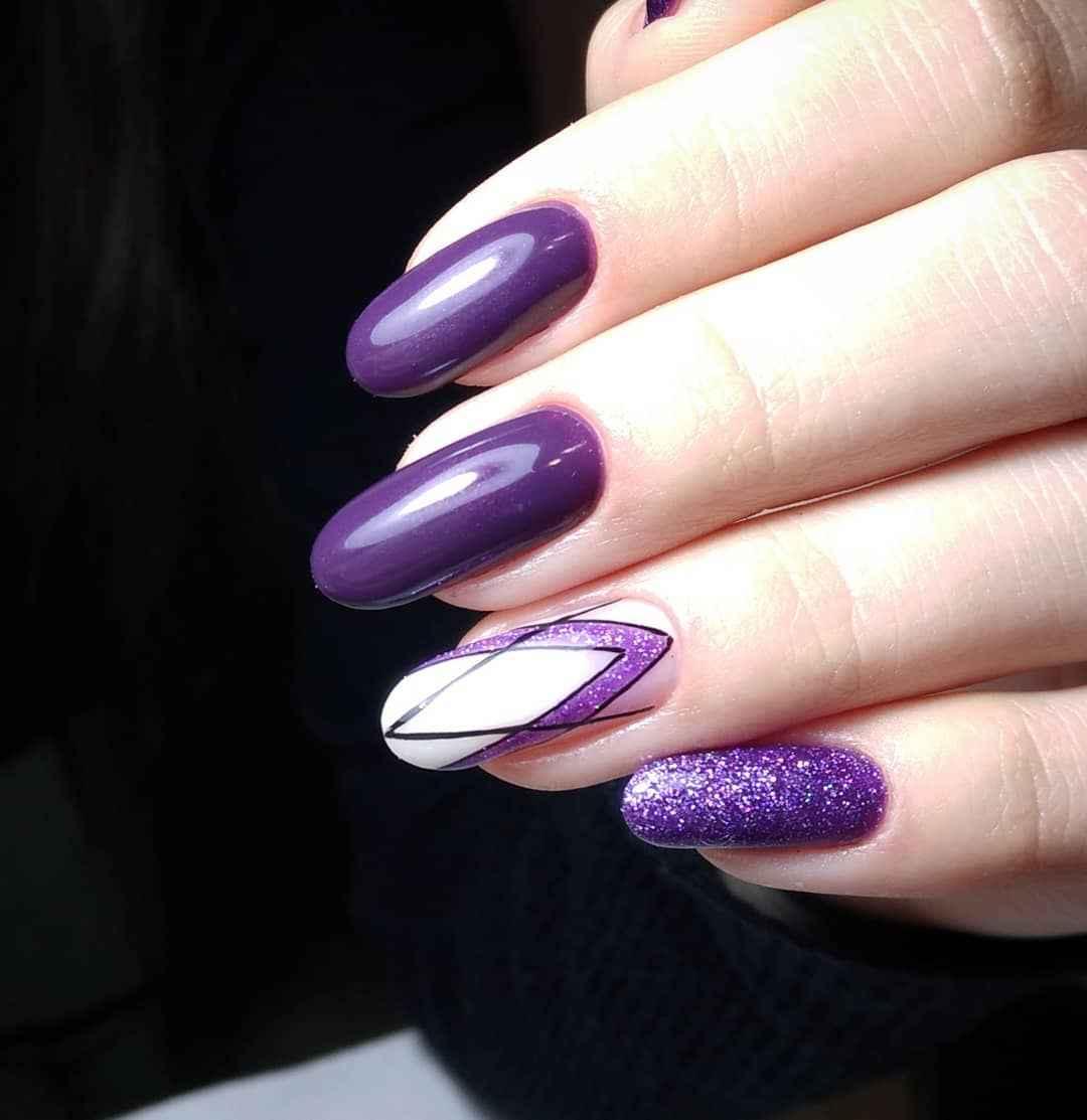 Фиолетовый френч с рисунком фото_1