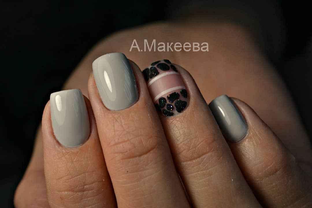 Серый френч фото_14