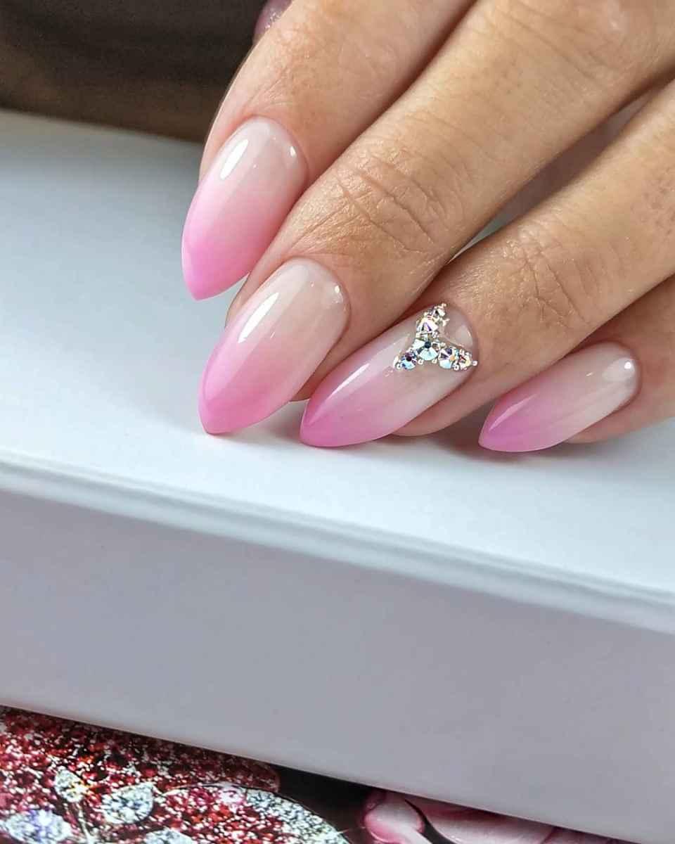 Нежно-розовый френч фото_37