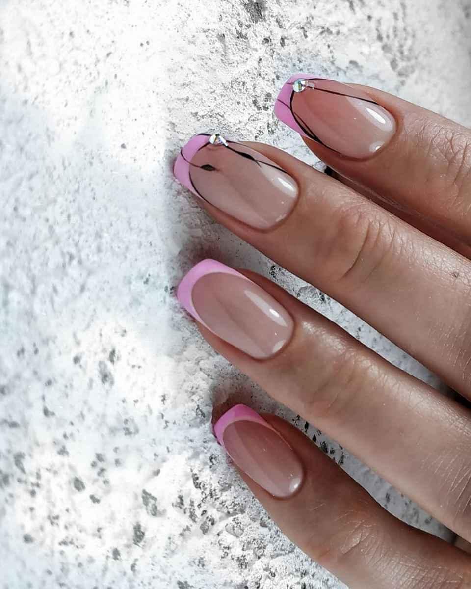 Нежно-розовый френч фото_36