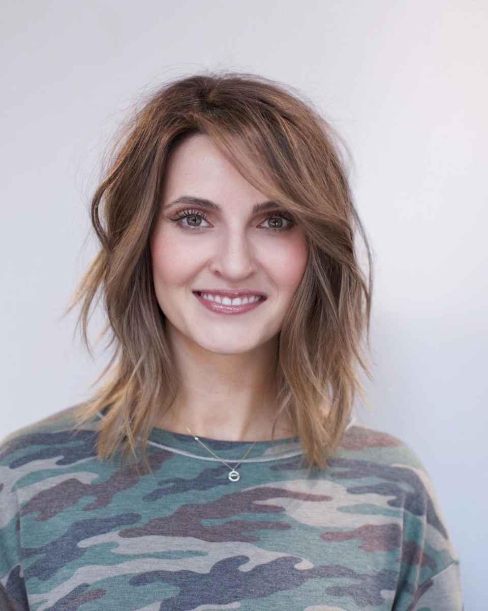 Шегги на средние волосы для женщин 50 лет фото