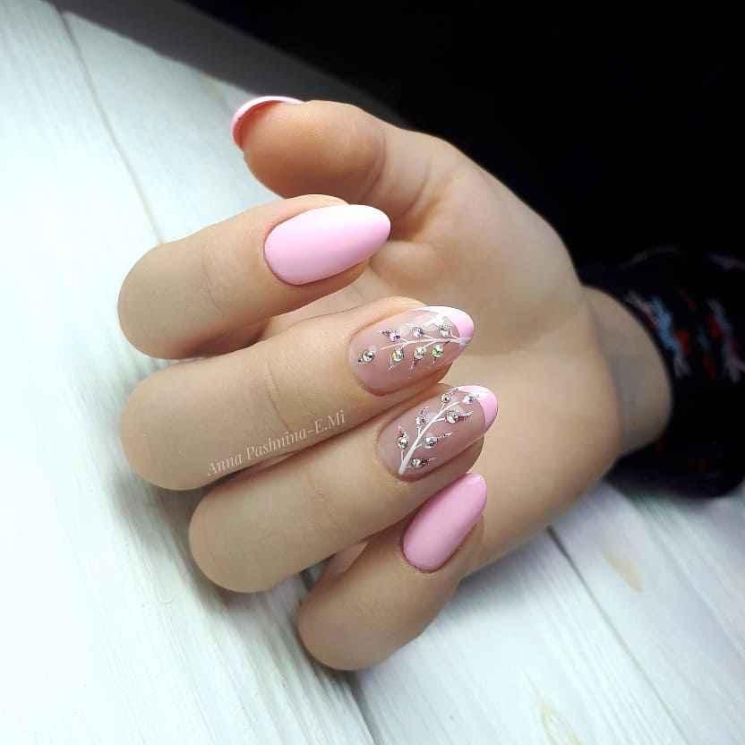 Нежно-розовый френч фото_34