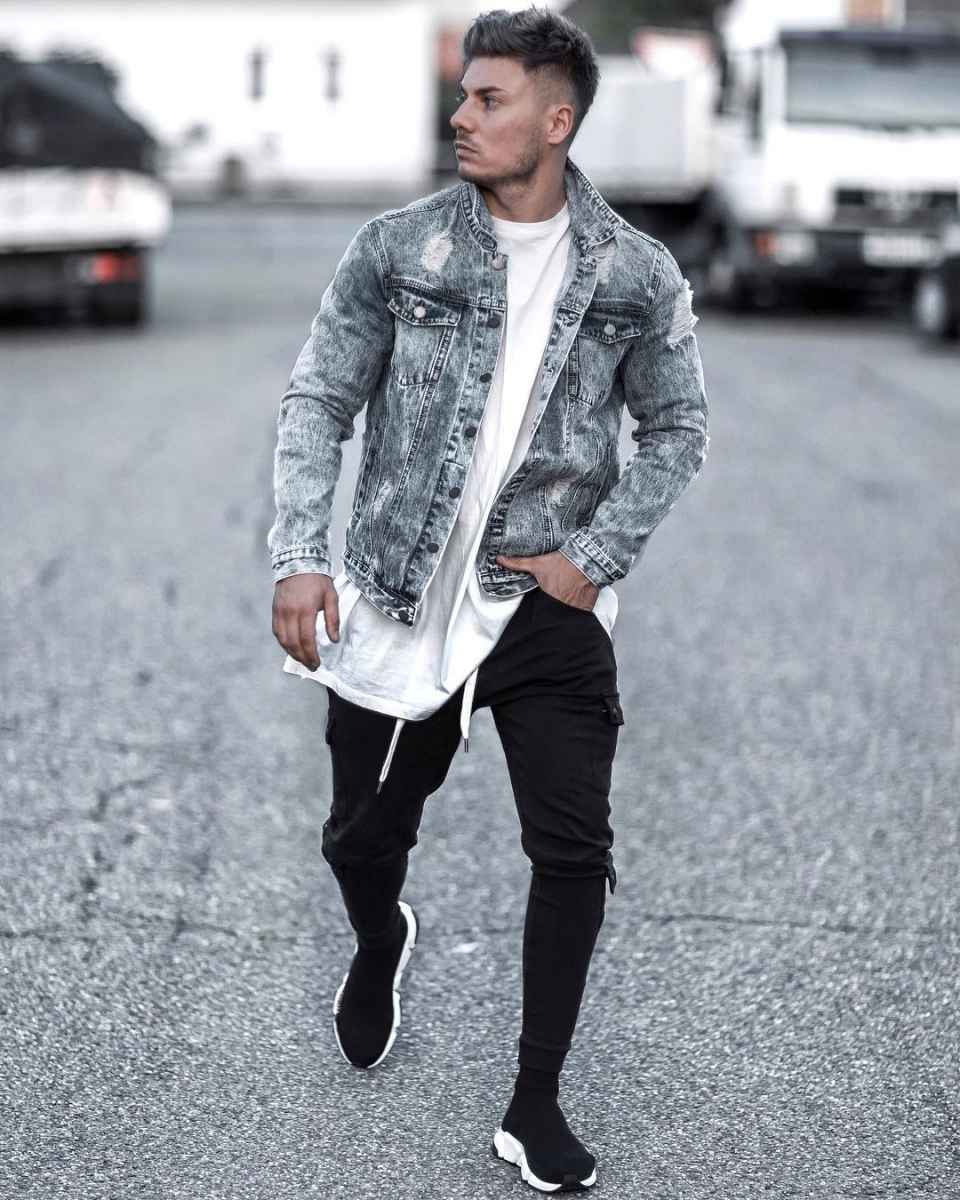 С чем носить джинсовую куртку мужчинам фото_9
