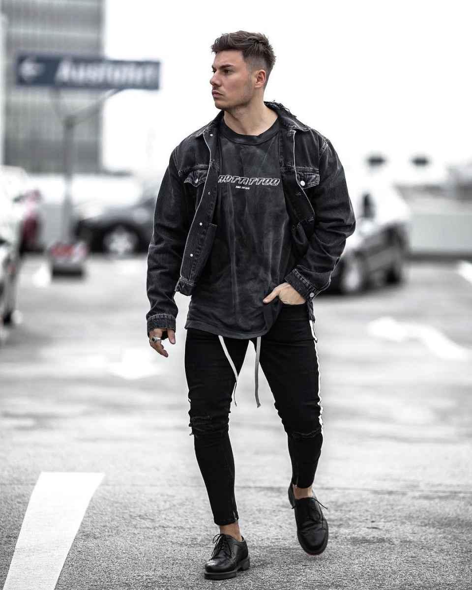 С чем носить джинсовую куртку мужчинам фото_8