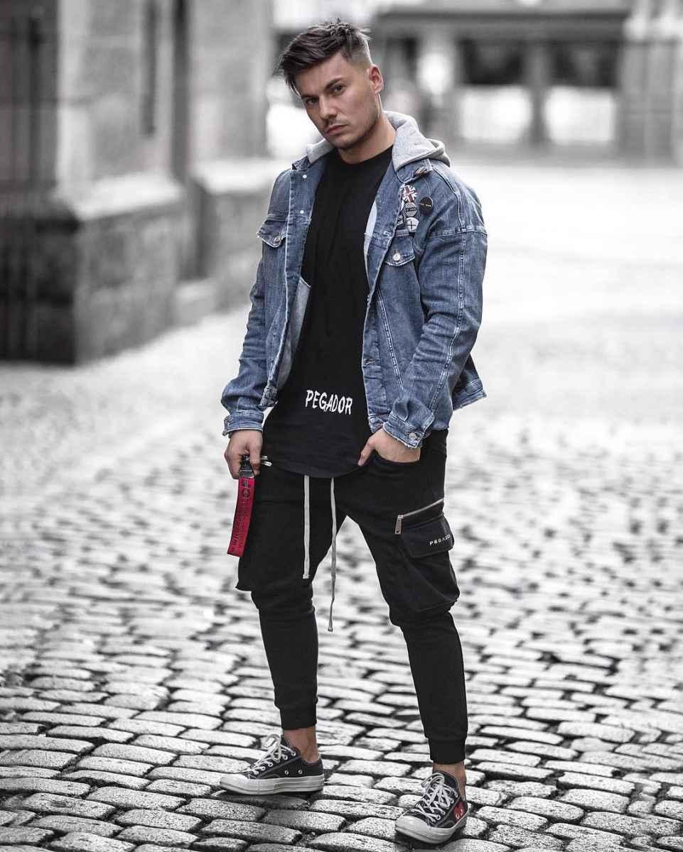 С чем носить джинсовую куртку мужчинам фото_7