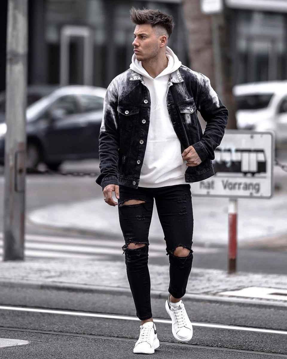 С чем носить джинсовую куртку мужчинам фото_5