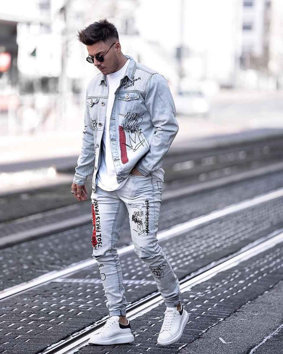 С чем носить джинсовую куртку мужчинам фото_4