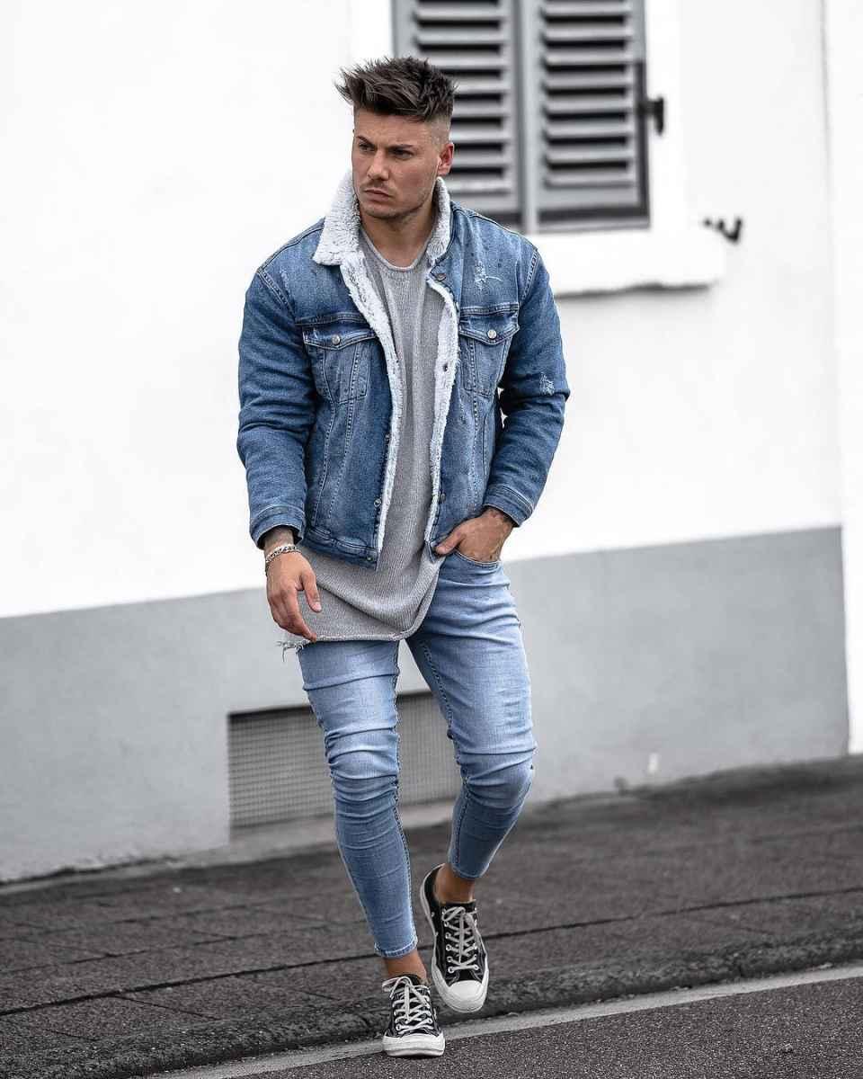 С чем носить джинсовую куртку мужчинам фото_3