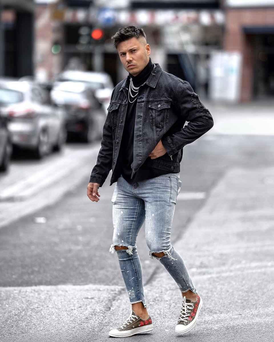 С чем носить джинсовую куртку мужчинам фото_1